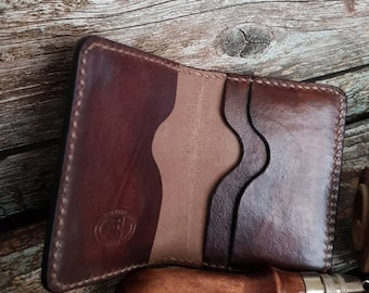 Small leather wallet/leather cardholder/men's wallet/personalized wallet/custom wallet.