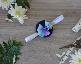 Mermaid Baby Headband Navy