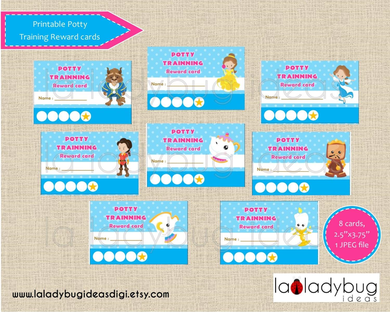 Töpfchen-Training Belohnung Karten Prinzessin. Druckbare