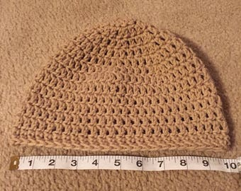 Crocheted Beige Women's Hat