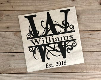 Decorative Tiles, Wedding Gifts, Anniversary Gifts, Couples Name Sign, Couples Name Print, Name Signs, Established Sign, Last Name, Gifts