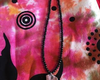 Rhodonite pendant necklace