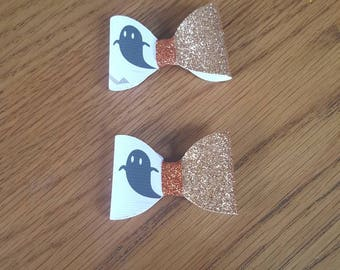 Ghost hair clips x 2