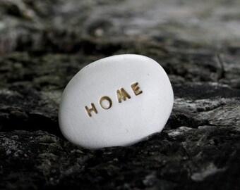 HOME - Ceramic Message Pebble