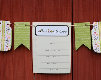 All About Me Baby Bunting