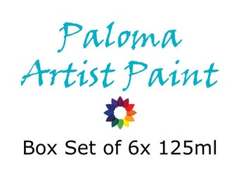 Paloma Artist Paint Box Set of 6x 125ml
