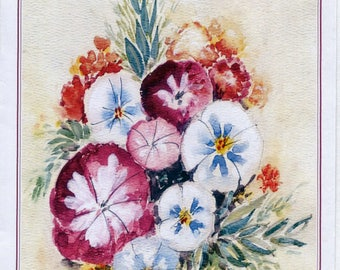 Bouquet - #80 - 4 Art Cards featuring this watercolor painting by Anthony Coulson.