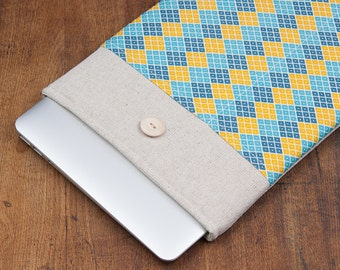 "30% OFF SALE Colorful Rhombus MacBook 13"" Air Case. Case for MacBook 13 Pro Retina. Sleeve for MacBook 13 Air / MacBook 13 Pro Retina."