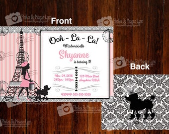 Paris birthday Invitations *DIGITAL*
