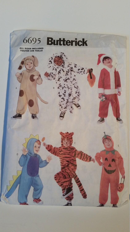 Butterick Nähen Muster 6695 Kleinkinder Kostüm (Hund, Santa Claus ...