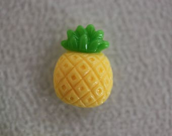 Pineapple yellow and green cabochon scrapbooking