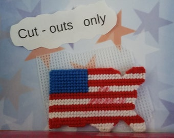 United States flag cut out