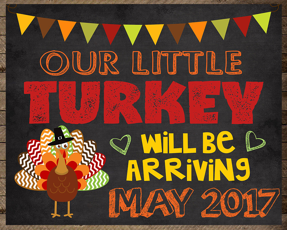 Thanksgiving Pregnancy Announcement turkey pregnancy digital