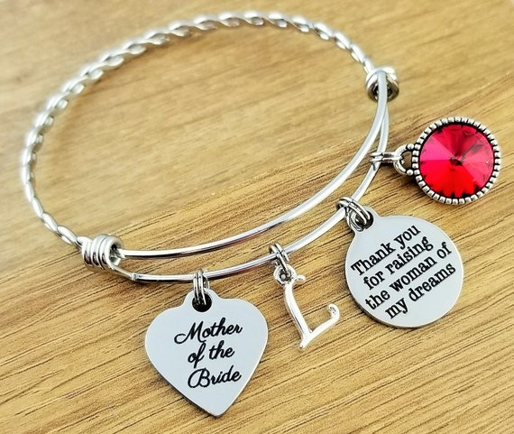Mother of the Bride Gift Mother of the Bride Bracelet Mother of the Bride Gift From Groom Mother of the Bride Jewelry Thank You for Raising