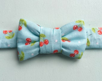 Cherry Print Bow Tie for Cats
