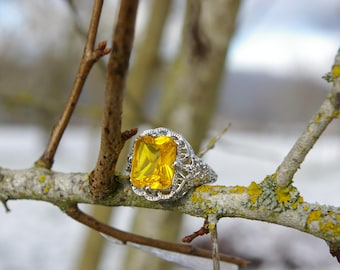 Citrine ring, size 51 or 6 US
