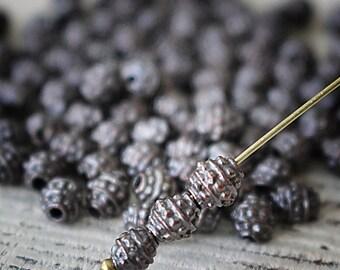Mykonos Bronze Beads - Mykonos Beads Bronze - 6mm Oval Bali Beads - Jewelry Making Supply - Made In Greece - Choose Amount