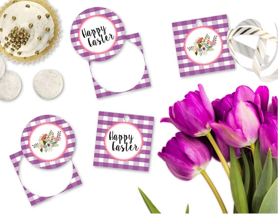 Printable easter gift tags happy easter cupcake toppers printable printable easter gift tags happy easter cupcake toppers printable purple buffalo plaid easter gift tags by sunshinetulipdesign from sunshinetulipdesign on negle Images