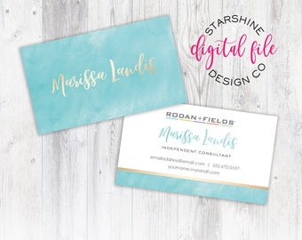 Rodan + Fields Business Card, Personalized Business Card, Independent Consultant Card, Custom Rodan and Fields Business Card, Digital File