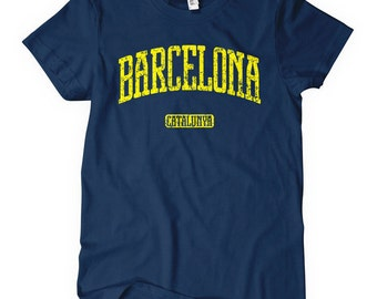 Women's Barcelona T-shirt - S M L XL 2x - Ladies Barcelona Spain Tee - Catalan - 4 Colors