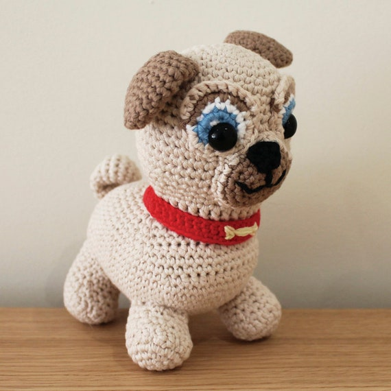 Rolly - Soft Toys. Amigurumi Pattern PDF, Puppy Dog Pals, Puppy Doll, Pug, Pugster, Nursery Crochet, Kids Gift, Dog Toy, DIY Digital File
