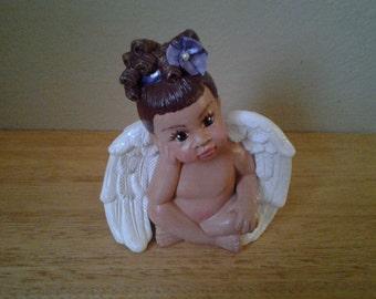 Lil Sitting Angel Girl Purple