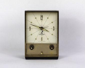 Vintage French Jaz Alarm Clock 1950s Mid Century Decor