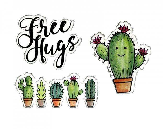 New! Sizzix Framelits Die Set 3PK w/Stamps - Sending Hugs by Jen Long 662682