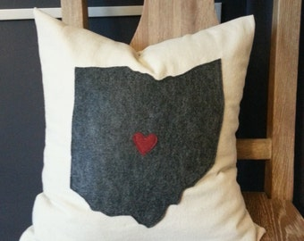 """Hometown Love Pillow Cover 16"""""""