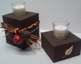 Fall theme Candle holder
