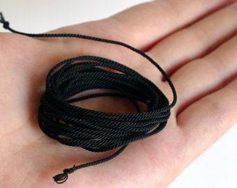 Miniature Rope for Ship Models / doll houses / model / design / miniatures / handmade color BLACK