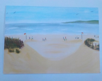 beach greeting card blank