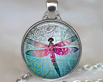 Lace Dragonfly pendant, dragonfly necklace, dragonfly jewelry, dragonfly jewellery, dragonfly key chain, key ring key fob
