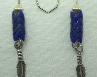Lapis Chevron Earrings # 240