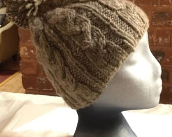 Chomolongma Hat - Natural Gray - Handspun 100% Yak Down Wool - 2225-NG