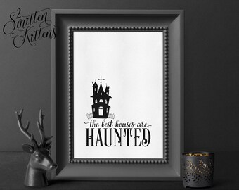 Halloween Printable Art, Art Print, Halloween Art, Halloween Printable Sign, Instant Download Art, Haunted House Printable Art, CLASSIC