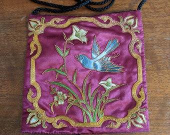Vintage Brocade Bird Purse