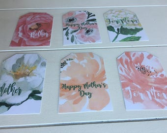 Mother's Day Printable Gift Tags, Floral Happy Mother's Day Gift Tags, Happy Mother's Day Gift Tags, Printable Mothers Day Gift Tags