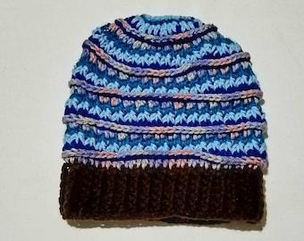 Handmade Slouchy Beanie Hat (Size: Adult)