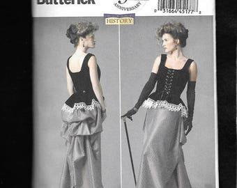 Cheapset Shipping. Steampunk Costume Pattern. Butterick 5969. Edwardian Costume Pattern, Corset & Bustle. Sz:8-22 New. Uncut