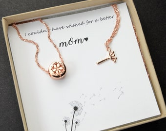 Mothers day gift for mom from daughter Mother Daughter Necklace Set Jewelry Dandelion Necklace personalized mothers day gifts sales