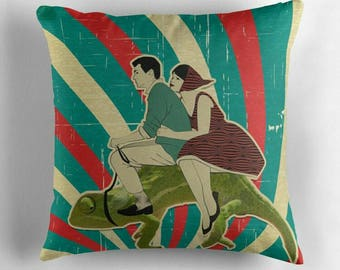 Vintage Vespa riders © hatgirl.de |  Living room cushion with cover