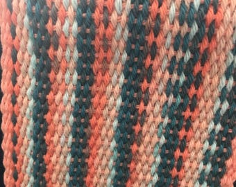 Cotton Yarn Sunrise Stripe Scarf