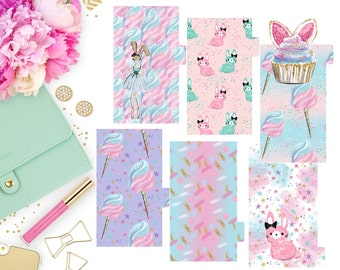 Cotton Candy Kisses Dividers