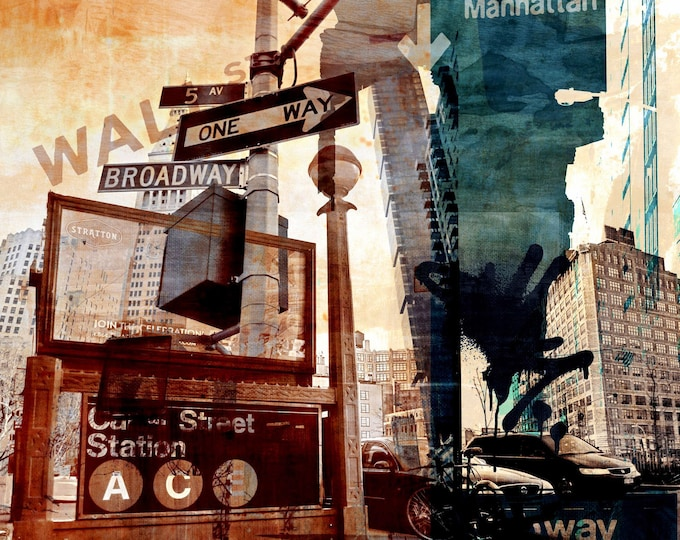 WALLSTREET VI by Sven Pfrommer - 100x100cm Artwork is ready to hang