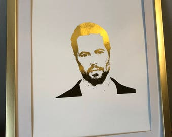 Paul Walker Fast and Furious Foiled Photo