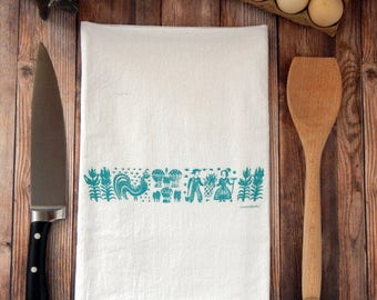 Pyrex Butterprint Flour Sack Tea Towel