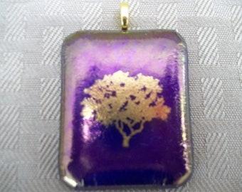 Unique Gold Tree Pendant
