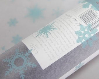 Pale blue snowflake tissue paper 50 x 70 cm sheets  gift wrapping festive christmas