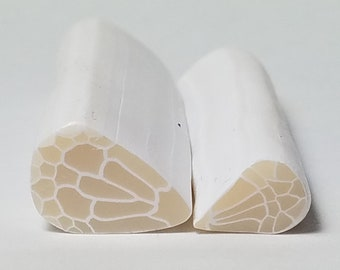 Set of 2 Translucent Butterfly Wing Canes, Upper & Lower Wing, Raw Polymer Clay Cane, Unbaked Clay Cane, Clay Cane, Butterfly Clay Cane